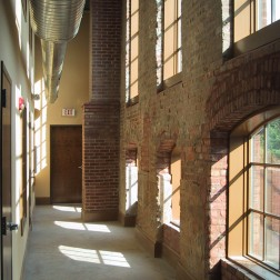 New two story corridor on northeast side of the building