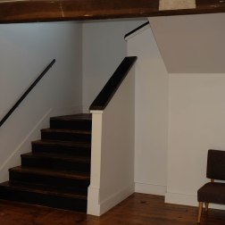 New stair to upper level